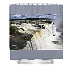 The Stunning Falls Of Iguacu Brazil Side Shower Curtain