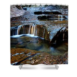 The Subway Pools Of Wonder Shower Curtain by Bob Christopher