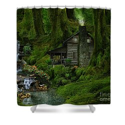 The Summer Cottage Shower Curtain by Lynn Jackson