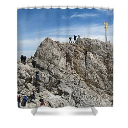 Shower Curtain featuring the photograph The  Summit - 1 by Pema Hou