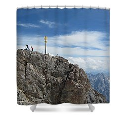 Shower Curtain featuring the photograph The Summit by Pema Hou