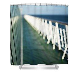 The Sun Deck Shower Curtain by Anne Gilbert