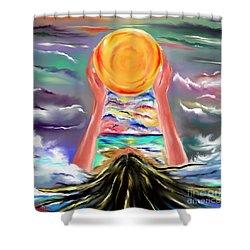 The Sun Will Shine Again Shower Curtain by Lori  Lovetere