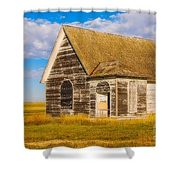 The Sunbeam Church Shower Curtain by Mary Carol Story