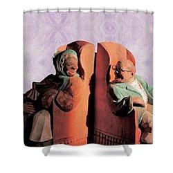 Shower Curtain featuring the digital art The Sunny Couple by Aliceann Carlton