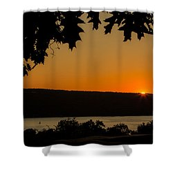 The Sun's Last Wink Shower Curtain