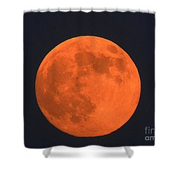 The Super Moon Shower Curtain by Marcia Lee Jones