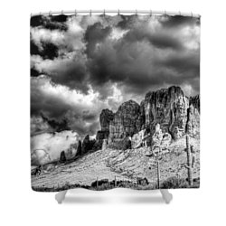 The Superstitions  Shower Curtain by Saija  Lehtonen
