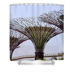 The Supertrees Shower Curtain