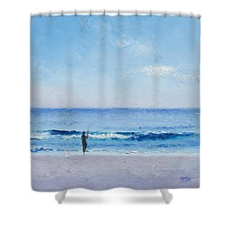 The Surf Fisherman Shower Curtain