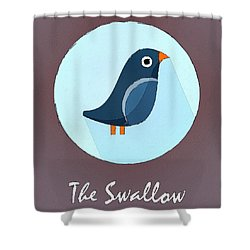 The Swallow Cute Portrait Shower Curtain by Florian Rodarte