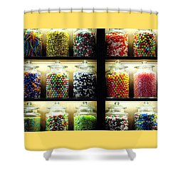 The Sweets Shower Curtain by Angela Davies