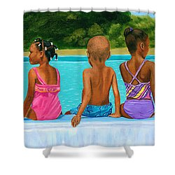 The Swim Lesson Shower Curtain