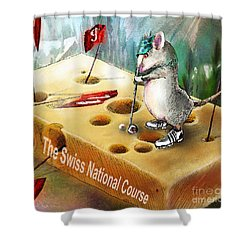 The Swiss National Course Shower Curtain by Miki De Goodaboom