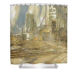 The Switch Yard Shower Curtain by Jack Zulli