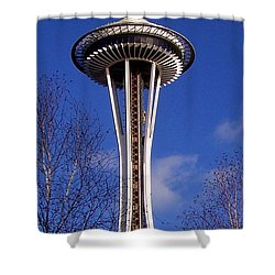 Shower Curtain featuring the photograph The Symbol Of Seattle by Kathy  White