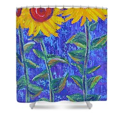 The Tall And Short Of It Shower Curtain by Margaret Bobb
