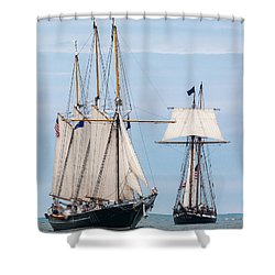 The Tall Ships Shower Curtain by Dale Kincaid
