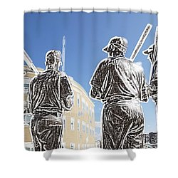 The Teammates Shower Curtain by Alice Gipson
