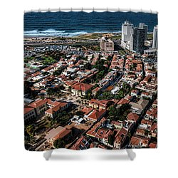 Shower Curtain featuring the photograph the Tel Aviv charm by Ron Shoshani