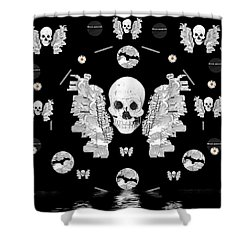 The Temple Of Skulls Shower Curtain by Pepita Selles