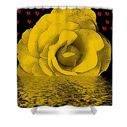 The Temple Of The Hearts Shower Curtain by Pepita Selles