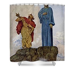 The Temptation Of Christ Shower Curtain by Hans Thoma