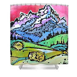 The Tetons From Walton Ranch Shower Curtain