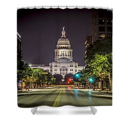 The Texas Capitol Building Shower Curtain by David Morefield