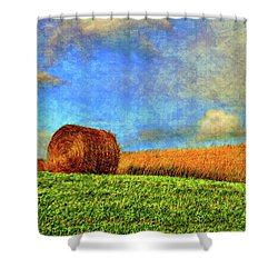 The Textures Of Autumn Shower Curtain by Steve Harrington