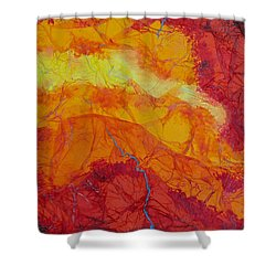 Shower Curtain featuring the mixed media The Thin Blue Line by Michele Myers