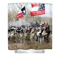 The Thin Gray Line Shower Curtain by Joe Kozlowski