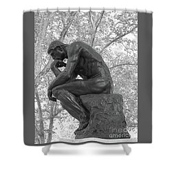 The Thinker - Philadelphia Bw Shower Curtain