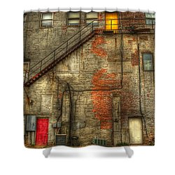 The Three Doors Shower Curtain by Thomas Young