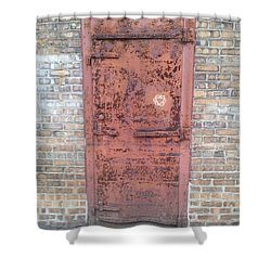 The Three Heart Door. Shower Curtain