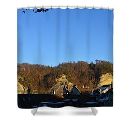 Shower Curtain featuring the photograph The Three Stones From Burgdorf by Felicia Tica