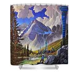 The Three Towers Shower Curtain