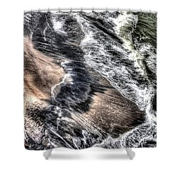 The Tide From Above Shower Curtain by Bob Hislop