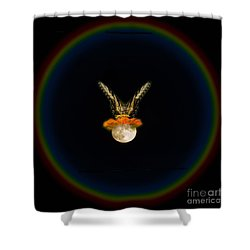 Shower Curtain featuring the photograph The Tiger Has Landed by Donna Brown