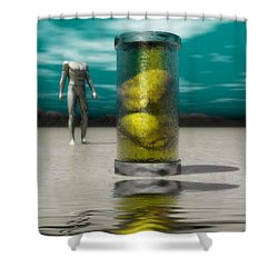 The Time Capsule Shower Curtain