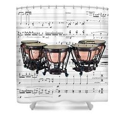 The Timpani Shower Curtain
