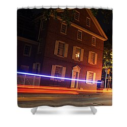 Shower Curtain featuring the photograph The Todd House Philadelphia by Christopher Woods