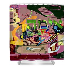 the Torah is aquired with awe 3 Shower Curtain by David Baruch Wolk
