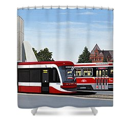 The Toronto Streetcar 100 Years Shower Curtain