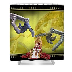 The Touch Shower Curtain by Scott Ross