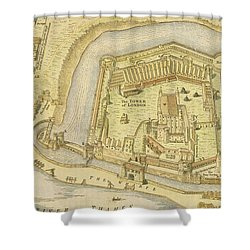 The Tower Of London, From A Survey Made Shower Curtain by English School