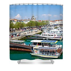 The Town And Port Of La Rochelle Shower Curtain
