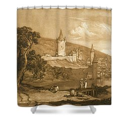 The Town Of Thun Shower Curtain by Joseph Mallord William Turner