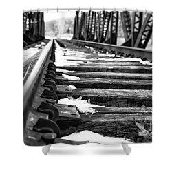 The Tracks Shower Curtain