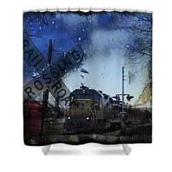 The Train Shower Curtain